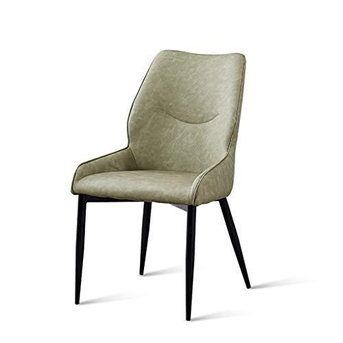 LiaoMu Nordic Dining Chair Home Soft Bag rugleuning stoel zachte zitting losse gespreksondergang eenvoudige sofa, stoel, bureau enkele make-up stoel