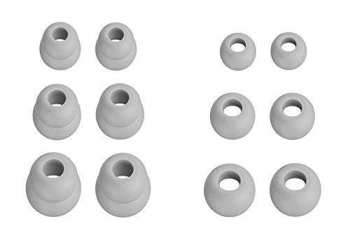 12pcs (df-3sz) Pastel gris S/M/L para dos y redondo adaptadores para auriculares in-ear auriculares de repuesto para beatsx, Powerbeats 321, y urBeats 3auriculares auriculares