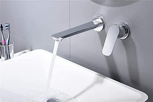 SDHENAILIAN Grifo de lavabo para lavabo todo el cobre oculto grifo de lavabo en la pared caliente y frío empotrado empotrable pared enchufe lavabo (color: So77)