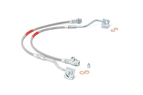 Rough Country Front Extended Stainless Steel Brake Lines | (fits) 1980-1996 F150 Bronco 4WD | 4-6' of Lift | 89310S