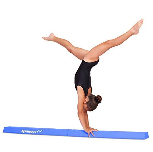 Springee 6ft Balance Beam - Extra Firm - Vinyl Folding Gymnastics Beam for Home - Pink