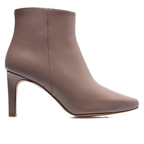 Zapatos miMaO. Zapatos Piel Mujer Hechos EN ESPAÑA. Botines Tacón Aguja. Botines Tacón Fino Cómodos con Plantilla Confort Gel