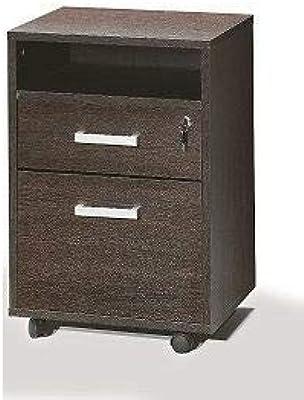 Intradisa 9004 - Ablagenschrank für das Büro mit einer Schublade, 1 Aktenordnerarchiv und einer Ablage im oberen Bereich, wengefarben