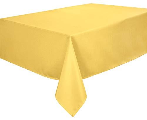 Home Direct Lotuseffekt Tischdecke Textil Eckig 140 x 240 cm, Fleckabweisend, Farbe wählbar (Gelb)