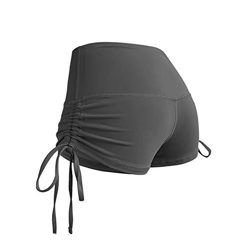 LMDGO Tik Tok Shorts Nahtlose Yoga-Shorts für Frauen High Taist Gym Compression Drawstring Hot Pants