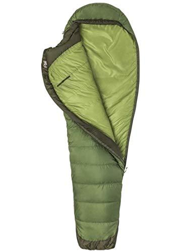 Marmot Unisex's Trestles Elite Eco 30 Mummy, Light Summer Sleeping Bag, Ideal for Camping and Trekking, Vine Green/Forest Night, Regular
