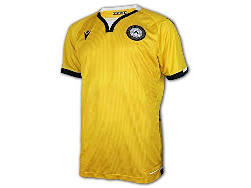 Macron UDI M20 - Tercera camiseta oficial de competición SR, Udinese Fútbol 2020/21, para hombre, amarillo, talla XXL