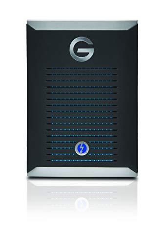 G-Technology G-Drive mobile PRO SSD 1 TB externe Festplatte (2.800 MB/s Übertragungsrate, robust und stoßsicher, Thunderbolt 3, kühlendes Aluminiumgehäuse) Schwarz