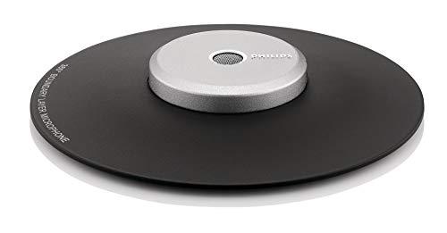 Philips LFH9172/00 Meeting-Mikrofon für 360° Aufnahmen (3,5 mm Klinke, Kabellänge 2m, Integrierte Kabelaufbewahrung) dunkelgrau / silber