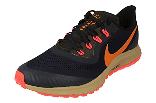 Nike Air Zoom Pegasus 36 Trail, Zapatilla de Correr Hombre, Multicolor (Obsidian Magma Orange Black), 40.5 EU