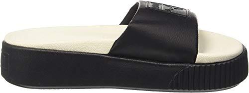 Puma Platform Slide, Zapatos de Playa y Piscina para Mujer, Negro Black-Whisper White, 38 EU
