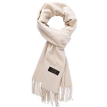 KÖLN 100% Pashmina Cashmere Wool Scarf for Woman & Men  Beige