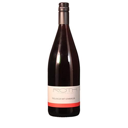 Weingut Roth 2018 (1 L) Trollinger mit Lemberger halbtrocken Qualitätswein 1.00 Liter