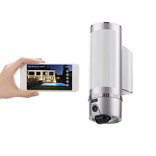 FREECAM - Cámara de seguridad para exteriores Full HD con sensor de movimiento por infrarrojos lámpara,Audio bidireccional, visión nocturna HD