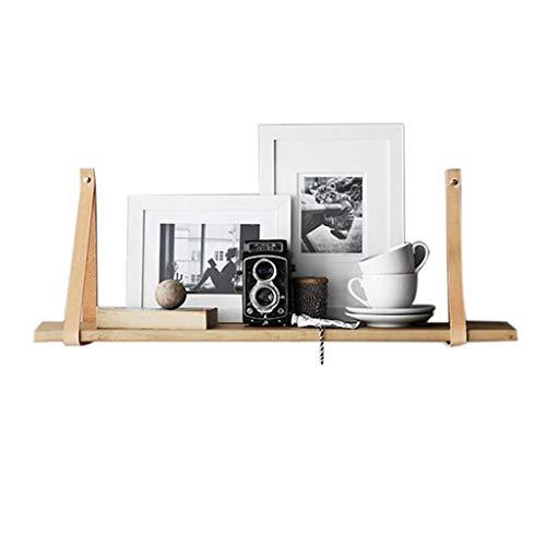 Industriële plank Wandplank Eenvoudige Riem Rek Laminaat Woord Effen Hout Woonkamer Slaapkamer Partitie Noordse Wind, Lager 20 kg