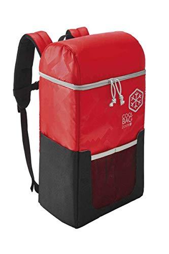 Kühlrucksack 20 Liter Immer kalte Getränke & frische Spreisen dabei Rot