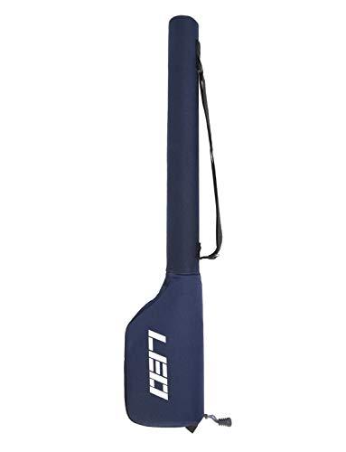 Lixada Fliegenfischen Rutentasche wasserabweisend Segeltuch Angelrute Tasche Angelrute Rute Tasche Aufbewahrungstasche, blau