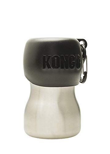 KONG H2O KGSS95 Stainless Edelstahl Wasserflasche, 0.28 L, S, schwarz