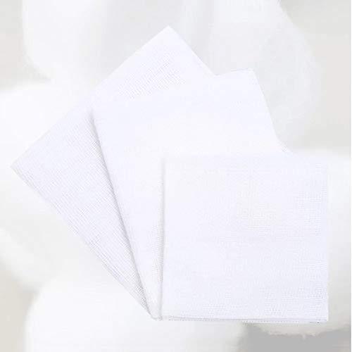XHINB 5 × 7 cm/Stück [100 Stück * 2 Beutel] medizinischer steriler Mullblock, entfetteter Mullverband, gewickelter Baumwollverband