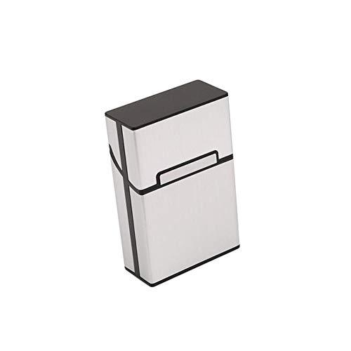 Tineo Aluminium Metal 20 sigarettenkoker AanstekersMagnetische gesp Tabaksdoos, zilver