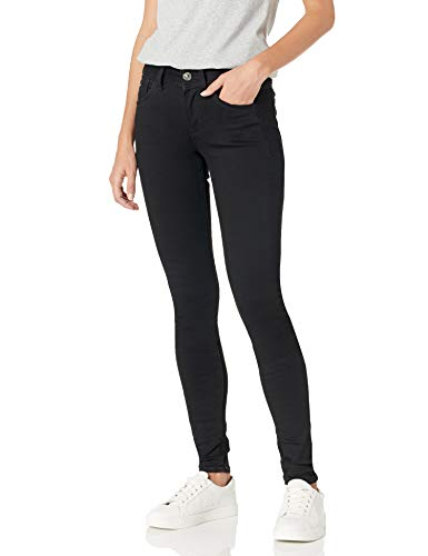 G-STAR RAW Damen Jeans Lynn D-Mid Waist Super Skinny, Black Denim, 28W / 30L
