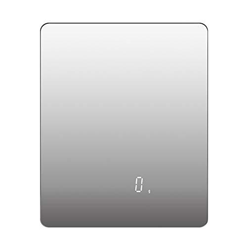 Langdy Digital küchenwaage, Küchenwaage Digitalwaage 15KG mit Vollspiegelglas-Design, Flüssigkeitsmessung, hohe Präzision auf bis zu 1g, Tara-Funktion