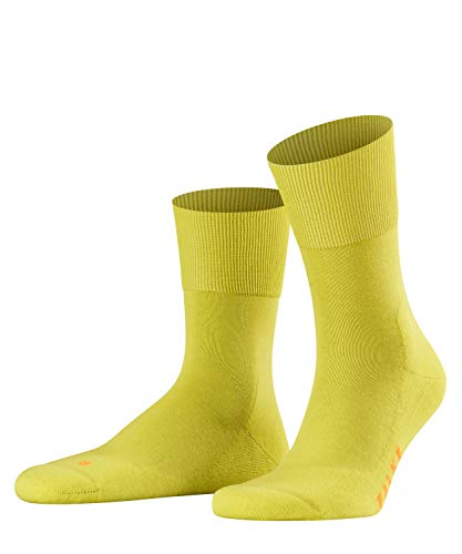 FALKE Unisex Run Ergo Unisex Baumwoll Strümpfe Einfarbig 1 Paar Socken, Gelb (Sulfur 1084), 42-43 EU