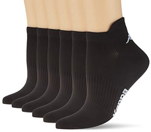 Kappa 6 Paar Sneaker Socken Schwarz Frauen 36/40