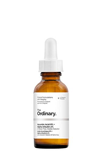 The Ordinary' Ascorbic Acid 8% + Alpha Arbutin' 2% - 30ml,a water-free, stable solution