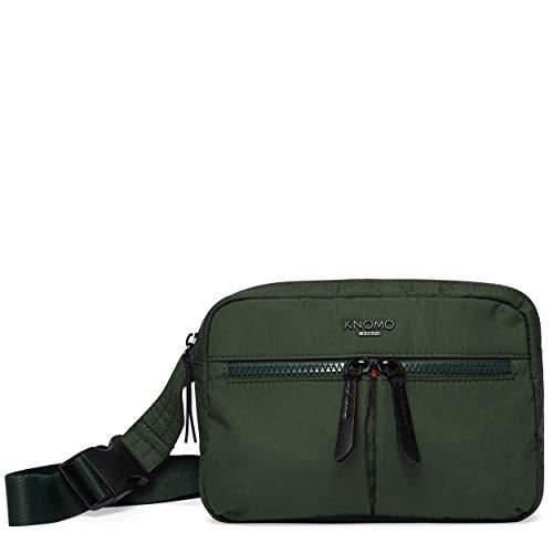 KNOMO Dalston Palermo Convertible Cross Body Bag Bottle Green