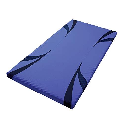 西川 [エアー01] マットレス シングル 高反発 厚み8cm 特殊立体波形凹凸構造 通気性 軽量 エアー AiR ブルー/ハード HC09401631B