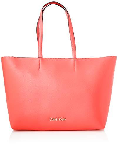 Calvin Klein - Ck Must Shopper Md Cav, Bolsos totes Mujer, Rojo (Coral), 1x1x1 cm (W x H L)