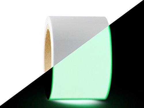 T.R.U. PGD-24 Glow In The Dark Tape: 6 in. wide x 30 ft. length (Luminescent Lime Green). Photoluminescent Neon Green Tape.