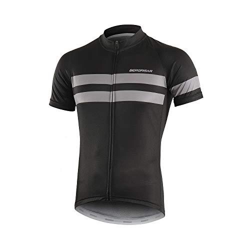 Bergrisar - Maglia da ciclismo a maniche corte, da uomo - Blu - M