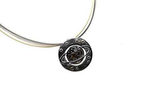 Himmelsscheibe von Nebra, Collier Saturn 925/- Silber, Sternenschmuck