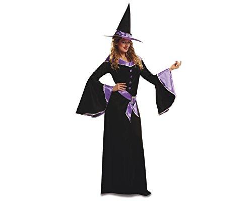 My Other Me - Disfraz de bruja para adultos, talla M-L, color morado (Viving Costumes MOM00191)