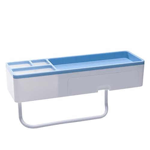 Annibells Estante para Carrito de Ducha con Barra de Toalla Desmontable, Estante Organizador de baño Multiusos para Inodoro de Cocina, montado en la Pared-Blue