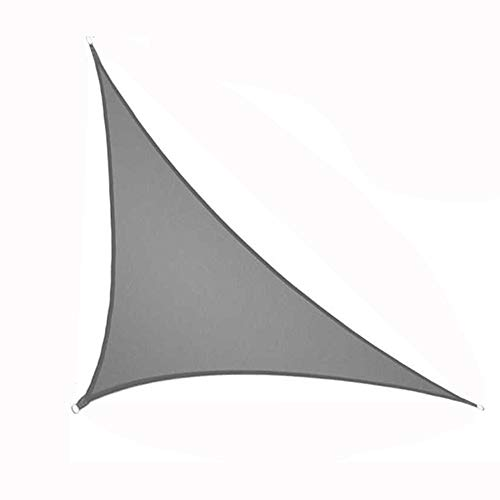 BIU Triangular Awnings, Outdoor Terrace Balcony Roof Shade Sail, Household Heat-Insulation And Rain-Proof Sun Protection Cloth,Gray,3x3x4.3m