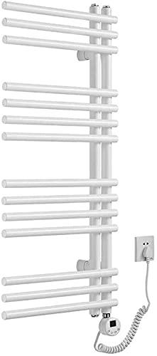 N/Z Mobiliario para el hogar Calentadores de Toallas Tubo Redondo de una Cara con calefacción eléctrica Toallero 450 * 1000 MM Calentado en Blanco con termostato Inteligente Adecuado para baño