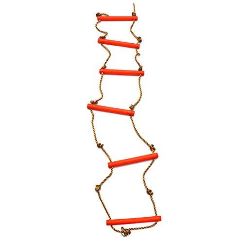 CLISPEED Escalera de Cuerda para Niños Escalera Colgante para Juegos Infantiles Juego de Columpios Fondo para Niños Al Aire Libre Gimnasios de La Selva Equipo de Juego (Color Aleatorio)