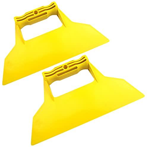 AERZETIX - Juego de 2 - Espátula recta raspador llana de acabado - 225mm - herramientas manuales para la construcción - albañilería/mampostería/yeso - C50028
