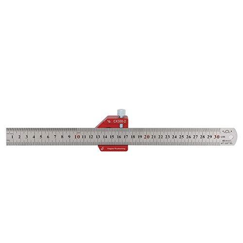 300mm Holzbearbeitungslineal , 300mm Maßmaß Schreiblineal , Aluminiumlegierung Holzbearbeitung Anreißwinkel Lineal Messwerkzeug(CX300-2)