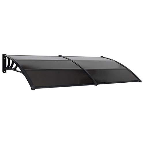 vidaXL dörrdörr ytterdörr ytterdörr dörrtak pulvertak ytterdörr dörr tak ytterdörr framdörr svart 200 x 100 cm PC aluminiumlist