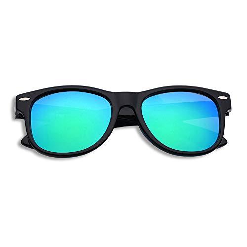 YAMAZI Kids Polarized Sunglasses Sports Fashion For Boys Girls Toddler Baby And Children (Black   Green lens, Gray)