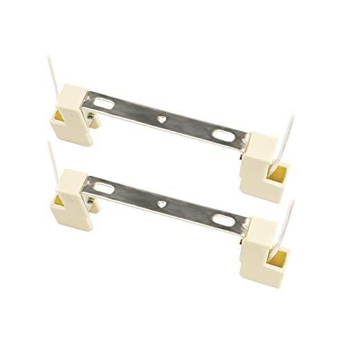 Lampenfassung für R7S 118mm LED-Lampen und R7S J118 Halogenstab, Keramikfassung mit 12,5cm Anschlußkabel, AC 100-240V, R7S Fassung 118mm für Deckenfluter/Aquarium/Wandlampe, 2er-Set