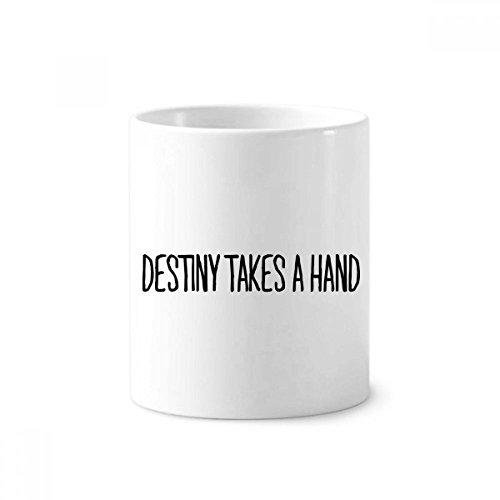Destiny Takes a Hand Keramik Zahnbürste Stifthalter Becher weiß Tasse 350ml Geschenk