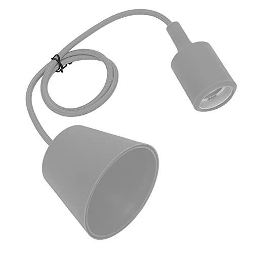 Base E27, portalámparas E27 Zócalo de lámpara para iluminación exterior para piezas eléctricas domésticas para iluminación interior para piezas de lámpara(gris, rosado)