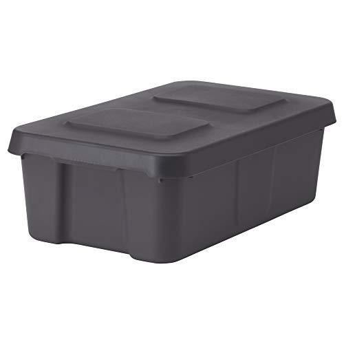 IKEA.. 102.923.62 Klemtare Box met lid, Indoor/Outdoor, Donkergrijs