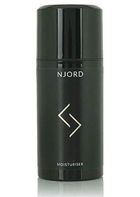 NJORD Moisturiser, Mens Anti Ageing Face Cream Vitamin C and Vitamin E Rich Skin Care Wrinkle Minimizing Dark Spot Remover, 100ml