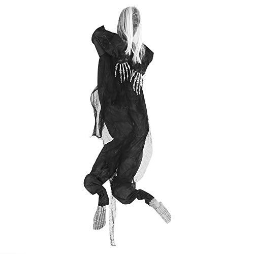 Kletterwand Scary Doll Hängend Halloween Skelettgeister Festival Unheimlich Puppe Halloween Dekorationen Grusel Draussen Party Dekoration für Haunted House/Halloween Party/Scary Tricks(White Color)